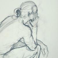 study / 2012 / 60 x 40 cm / chalk on paper