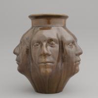 Tȇtetȇtetȇtetȇte! / 2019 / 24 x 22 cm / glazed stoneware