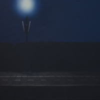 De nachtbraker / 2018 / 45 x 87 cm / oil on canvas