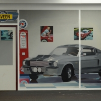 Ford Mustang / 2015 / 300 x 600 cm / acrylic on wall / private collection